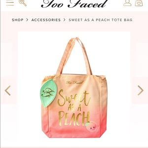 New too faced tote 🍑